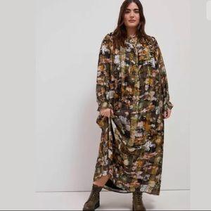 NWT Anthropologie Blair Shimmer Maxi Dress 3X $228